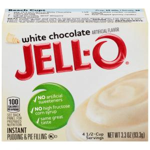 Jell-O Instant Pudding & Pie Filling White Chocolate