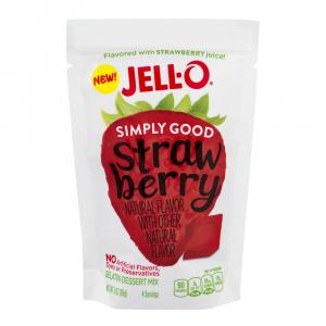 Jell-o Simply Good Strawberry Gelatin Dessert Mix