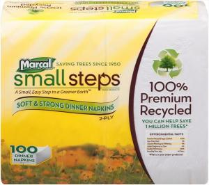 Marcal Small Steps 2-ply Dinner Napkins