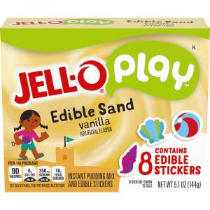 Jell-O Play Edible Sand Vanilla Pudding with Edible Stickers