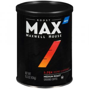 Maxwell House Max Boost 1.75x More Caffeine Coffee