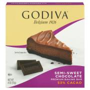 Godiva Semi-Sweet Chocolate Premium Baking Bar
