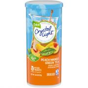Crystal Light Natural Green Tea Peach Mango Drink Mix