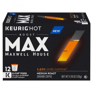 Maxwell House Max Boost 1.5x More Caffeine Ground Coffee