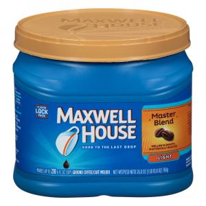 Maxwell House Master Blend Light Can