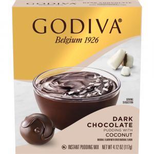 Godiva Dark Chocolate Pudding with Coconut