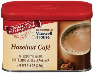 General Foods International Hazelnut Belgian Cafe Coffee
