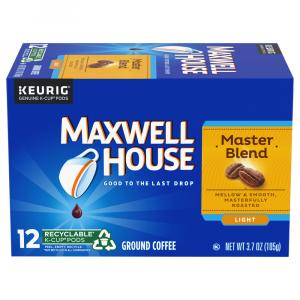 Maxwell House Single Serve Cafe Master Blend K-cups