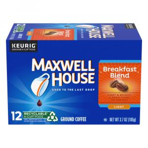 Maxwell House Breakfast Blend Single Serve Coffee Cups