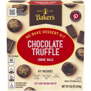 Baker's Chocolate Truffle Cookie Ball