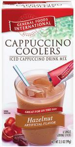 General Foods International Cappuccino Coolers Hazelnut
