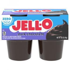 Jell-o Sugar Free Dark Chocolate Flavored Pudding Snacks