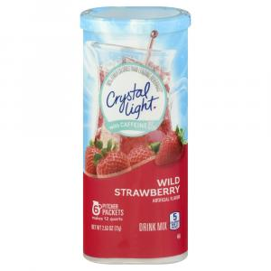 Crystal Light w/ Caffeine Pitcher Packets Wild Strawberry