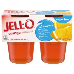 Jello Sugar Free Orange Gelatin Snacks