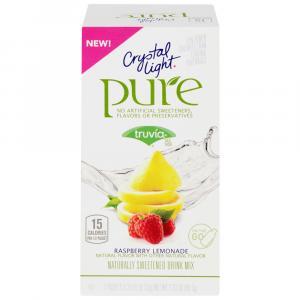 Crystal Light Pure Raspberry Lemonade On The Go Drink Mix