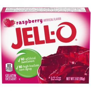 Jell-O Raspberry Gelatin