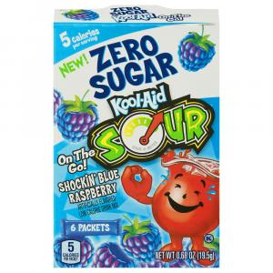 Kool-Aid Zero Sugar Sour Shockin' Blue Raspberry On The Go!