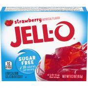 Jell-O Sugar Free Strawberry Gelatin
