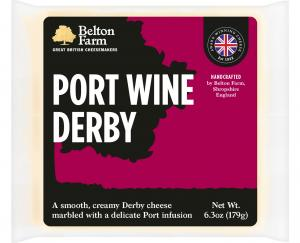 Belton Farms Port Wine Derby Cheese