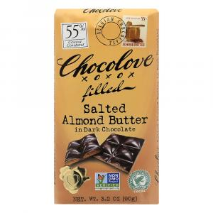 Chocolove Salted Almond Butter In Dark Chocolate 55% Bar
