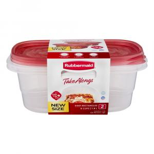 Rubbermaid Value Pack Rectangle with Easy Find Lids