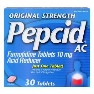 Pepcid AC Chewable Antacid Tablets 10 mg