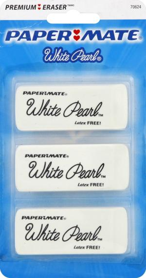 Paper Mate White Pearl Erasers