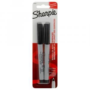 Sanford Sharpie Ultra Fine Tip Black Markers