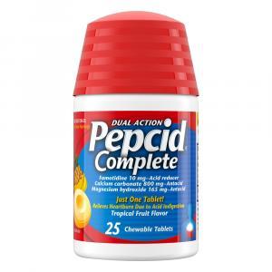Pepcid Complete Acid Reducer + Antacid Chewable Tablets