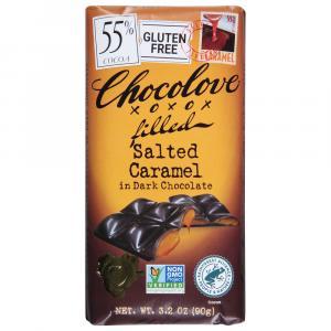 Chocolove Salted Caramel In Dark Chocolate 55% Bar
