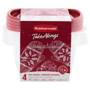 Rubbermaid 5.2 Cup Square Red