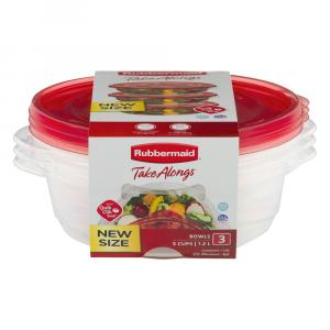 Rubbermaid Value Pack Round With Easy Find Lids