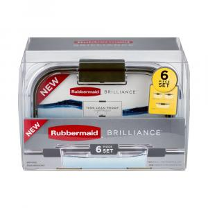 Rubbermaid Brilliance Clear Containers