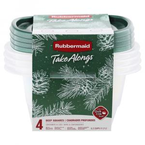 Rubbermaid 5.2 Cup Square Green