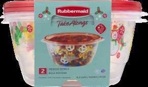 Rubbermaid Take Alongs 6.2-cup Round Bowls