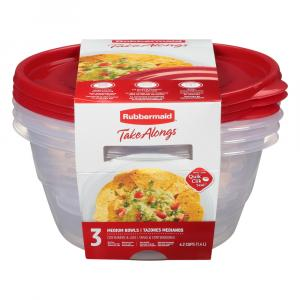 Rubbermaid TakeAlongs 6.2 Cups Medium Bowls