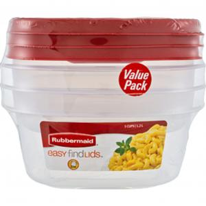 Rubbermaid Value Pack 2-3Cup & 1-5Cup with Easy Find Lids