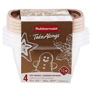 Rubbermaid 5.2 Cup Square Gold