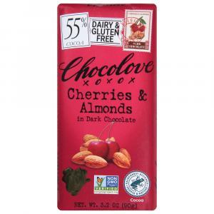 Chocolove Cherry & Almond Dark Chocolate Bar