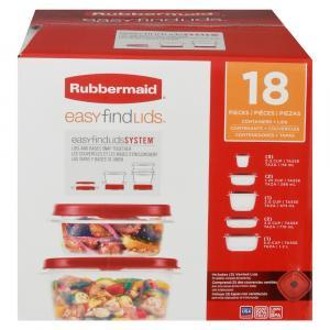 Rubbermaid Easy Find Lids 18 Piece Set