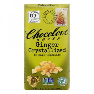Chocolove Dark Chocolate Bar With Crystallized Ginger
