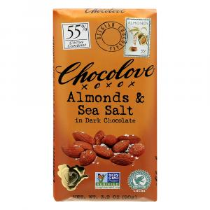 Chocolove Bar Dark Chocolate With Almond Sea Salt