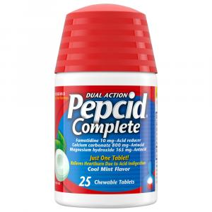 Pepcid Complete Cool Mint Flavor Chewable Tablets