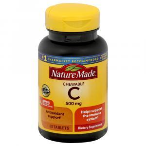 Nature Made Chewable Vitamin C 500MG Orange Flavor