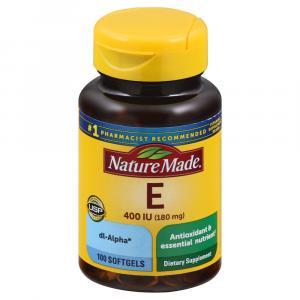 Nature Made E Vitamin 400 I.U. Liquid Softgels