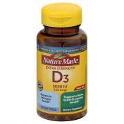 Nature Made Vitamin D3 5000 IU Softgels