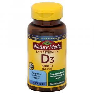 Nature Made Vitamin D3 5000IU Softgels