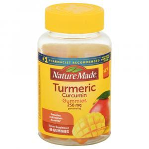 Nature Made Turmeric Curcumin Gummies 250 mg
