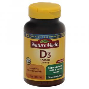 Nature Made Vitamin D3 1000IU Tablets