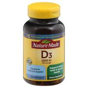Nature Made Vitamin D3 2000 IU Softgels